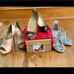 3 pair of heels